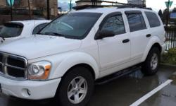 Make Dodge Model Durango Year 2004 Colour White kms 204 Trans Automatic Good condition, have to many vehicles. Well maintained. Good year tires, side steps,cold air intake