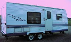 Front Island Queen Bed, Booth Dinette, Rear Bathroom/ Shower, Fridge, Stove, Microwave,am/fm/cd/Mint Condition. 1/2 ton towable c/w stab hitch and generator. needs awning. 14032274197 or cell 14035886058 leave message if no answer. This unit is in