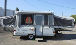 3 Way Fridge. Furnace. Inside Stove. Outside Stove. King Bed. Double Bed. Awning. Spare Tire. Propane Tank. Battery and Box