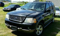Make Ford Model Explorer Year 2004 Colour Black kms 233000 Trans Automatic 2004 Ford Explorer XLT 4X4 4.0l V6, Automatic, ABS, A/C, Power windows/locks/mirrors & seat. 233,000 km. Certified with E-Test included. Taxes are not included in listing price.