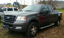 Make Ford Model F-150 Year 2004 Colour Grey kms 186250 Trans Automatic 2004 Ford F150 FX4 - 4X4 Running boards and bedliner installed! 5.4l V8, Automatic, A/C, Cruise Control, Power windows/locks/mirrors & seat. 186,250 km. Certified with E-Test