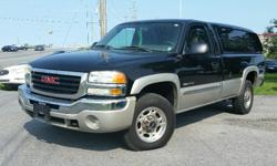 Make GMC Model Sierra 2500HD Year 2004 Colour Black Trans Automatic 2004 GMC Sierra 2500HD SLE 6.0l V8, Automatic, A/C, Cruise, Keyless entry, Power windows/locks/mirrors, Tonneau Cover, Bedliner. Certified with E-Test. Taxes are not included in listing