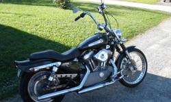 2004 harley sportster xl883c custom 55,000km has 12 inch apes, bobbed rear fender fresh paint and eblems in may/11 has 2 dunlop harley tires installed 6700km ago and is inspected till may 2013. just had a oil change, comes with kuryakyn swingback front