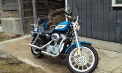 LADY DRIVEN LOW MILEAGE 1200 ROADSTER, SADDLE BAGS, SCREAMING EAGLE PIPES,WINDSHIELD, BACK REST 10436 KM'S 519 934 0805
