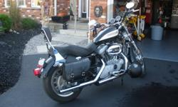 """Mint Condition!!! 2004 Sportster / Roadster All Harley accessories including, wind shield, 1-1/2"""" lowering kit with springs, saddle bags, LED signal lights, grips, foot pegs, highway pegs, two-up Sundowner seat, quick disconnect back rest, Vance and Hines"""
