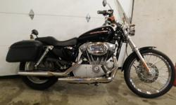 One Excellent condition Harley Sportster 883 with low mileage of 20400 km,Very clean bike with nice options.First year for rubber mounted engine Harley quick release windshield Lockable Hard saddlebags Backrest Some extra chrome Serviced and ready to