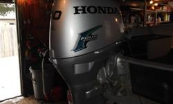 2004 honda 40hp 4 stroke outboard. has electric start,tilt and trim runs well. looking to upgrade 2900.00. This motor brand new with the power tilt and trim sells for 8000.00 + tax. The motor is a long shaft. If interested e-mail me and I will get back to