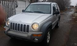 Make Jeep Model Liberty Year 2004 Colour silver kms 177000 Trans Automatic 3.7 L auto 4X4 A/C/T power locks,doors windows,new shafts,seals bearings, mechanicly sound $ 5850 OBO cal 306 7379300 or 306 5450593