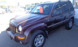Make Jeep Colour burgundy Trans Automatic kms 228000 2004 jeep liberty 4x4 limited , v6 automatic, loaded, tow hook, roof racks, tinted glass, cd player, moonroof, air , tilt and cruise, 228,000 kms, excellent condition. Bouman Auto Gallery Ltd. 1701