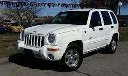 Make Jeep Model Liberty Year 2004 Colour White kms 204700 Trans Automatic 2004 Jeep Liberty 4X4 Limited 3.7l V6 Automatic, A/C, CD, Cruise Control, plus Power Windows, Locks & Mirrors. 204,700 KM. Certified with E-Test. Taxes are not included in listing