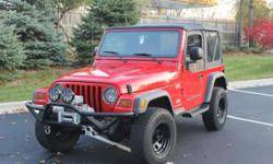 Make Jeep Model Wrangler Year 2004 Colour Red kms 94260 Trans Automatic This fully loaded 2004 Jeep Wrangler X is truly an incredible car. 94,260 miles, Automatic trans, AWD. The car has had only two owners and is in impeccable shape (No body rust!).