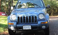 Make Jeep Model Liberty Colour Blue Trans Automatic kms 300000 Great vehicle. Used as a daily commuter. Recently purchased a newer SUV. Brand new tires, Front End just re-done, Well Maintained, Regular Maintenance, 4X4, Leather Interior, Sun Roof, Power