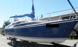 2004 MacGregor 26M Blue Hull Upgrades and Added Equipment: Engine: 1 2004 Honda BF50A 50HP Rebuilt by Honda Aug 2018 Warranty until Feb 2019 Less than 10 hrs 3 & 4 Blade Prop 4 6 gal fuel tanks (24 gal total) Deck & Hardware: 1 150% Genoa 1 105% Jib 1 CDI