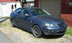 Make Mazda Model 3 Year 2004 Colour Blue Trans Manual 04 Mazda 3. Originally a Quebec car but has been registered in BC. I bought it for a project but plans have changed. has been sitting for a year and needs a battery and probably a starter.