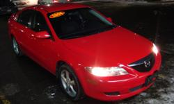 Make Mazda Model 6 Year 2004 Colour Red kms 145000 Trans Automatic 2004 Mazda 6 with 145000 km , Automatic and A/C . Will come Certified . Come Visit Us Today 916 Montreal Road Ottawa Ontario We are here to Serve you and help you get behind the wheels of