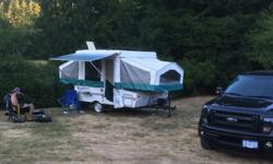 This trailer has lots of space, stores away easily, and can be hauled with a small truck/suv. It's in great shape and when not in use is stored in underground parking;which means the canvas is in great shape. If you're looking to get off the ground for a