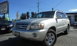Make Toyota Model Highlander Year 2004 Colour Silver kms 206000 Trans Automatic The incredibly dependable and reliable 2004 Toyota Highlander is HERE at Colwood Car Mart! It is equipped with: *V6 3.3L *All-Wheel-Drive *Automatic *Power windows *Power