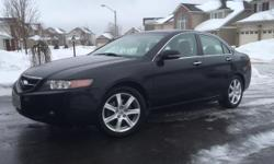 Make Acura Model TSX Colour Black Trans Manual kms 90500 2005 Acura TSX with only 90,500 km. Purchased new in Victoria, BC. Kept in heated garage. This is the first year the car has been driven in winter. New winter tires. Brand new OEM clutch installed