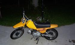 I'm selling my 2005 baja 50. It is a 4-speed semi-automatic 4-stroke. It is in great condition and is stored inside and kept clean. The bike runs strong and I have never had any problems with it. It is perfect for kids to trail ride or just around the