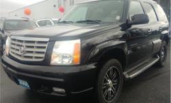 Make Cadillac Model Escalade Year 2005 Colour Black kms 213712 Trans Automatic Price: $8,995 Stock Number: S5071A VIN: 1GYEK63N05R108237 Interior Colour: Black Engine: 6.0L V8 Engine Configuration: V-shape Cylinders: 8 Fuel: Regular Unleaded