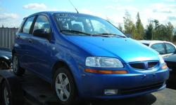 "Dismantling 05 Chevy Aveo/Pontiac Wave for Parts, Good Body Parts, Rims, Tires (14""), Starter, Alternator, Interior, Engine Gone. Reasonable Prices. Call (613)761-0359"