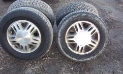 I HAVE NICE USED 4 ALUMINUM RIMS AND TIRES, 215/70/15  FROM MY CHEVY VENTURE VAN ,THEY STILL HAVE LOTS OF TREAD LETF ,LET MY NOW MARIO CELL 519 796 7075