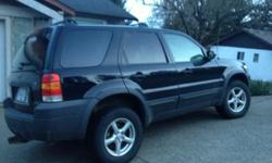 Make Ford Model Escape Year 2005 Colour Black kms 195000 Trans Automatic 2005 Ford Escape AWD V6, 3L Automatic 4 speed Fog lights, Roof rack, trailer hitch, 2 sets of newer tires (all season/winter. This has been a great, reliable SUV for us. No