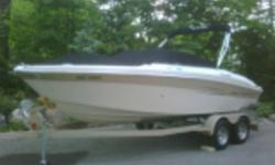 First launched in 2006. I bought it last early summer with 70 hours on it, and put 30 hours on in 5 months on Lake Simcoe. Spotless interior, with sun platform at rear, swim platform and ladder, sirius ready radio and cd player, all gauges including depth