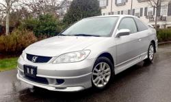 Make Honda Model Civic Coupe Year 2005 Colour SILVER kms 283000 Trans Manual YEAR: 2005 MAKE: HONDA MODEL: CIVIC MILEAGE: 283,000 KM'S OPTIONS: A/C & PWR. LOCKS, 6 DISC CD CHANGER, ALLOYS DETAILS: CLEAN VEHICLE, RUNS & DRIVES GREAT WARRANTY: 6 MONTHS