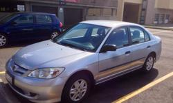 Make Honda Model Civic Year 2005 Colour Silver kms 121557 Trans Automatic Very clean, reliable car from BC with just under 122,000km. No rust and no exposure to salt! Recently replaced the battery, water pump, timing belt and air conditioning belt(s) and