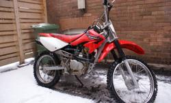 2005 Honda  CRF100 in great condition. Reason for selling kids have out grown .bike is four stroke straight gas.regular oil changes done , used very little.