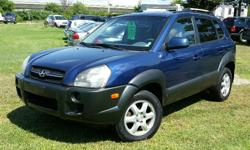 Make Hyundai Model Tucson Year 2005 Colour Blue kms 179550 Trans Automatic 2005 Hyundai Tucson V6 2.7l V6, Automatic, ABS, A/C, Cruise control, Power windows/locks/mirrors. 179,550 km. Certified with E-Test included. Taxes are not included in listing