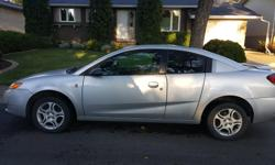 Make Saturn Colour Silver Trans Manual Air conditioning, power windows, power steering, FM, power locks. 5 speed manual. 146,200km. 4 door coupe. Some cosmetic damage. Has always run well and has been a very reliable car! Only selling because I am moving