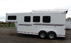 """2005 Sliver Star horse trailer. Cargo space is 6'6"""" wide by 7'4"""" tall by 16'5"""" deep. Plus 7'7"""" cargo in the gooseneck. Total length is 24'. Rear gate opens half ramp with half swing doors. Ramp is very light and easy to operate. Tires are 235/85r16. 6k"""