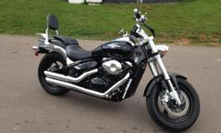 2005 Suzuki Boulevard M50 (805cc) Very Clean Low Mileage M50 In Excellent Condition With A Vance & Hines Exhaust System, Passenger Backrest & More Model Boulevard M50 Price $4,699.00 Color Black Km 16349 Engine Four-stroke, liquid-cooled, V-twin