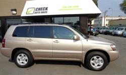 Make Toyota Model Highlander Year 2005 Colour Brown kms 239269 Trans Automatic Price: $5,988 Stock Number: 058-198e Interior Colour: Beige Are you a busy family that doesn't want a minivan? Maybe you are someone who enjoys the outdoors and needs an AWD to