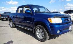 Make Toyota Model Tundra Year 2005 Colour Blue kms 224995 Trans Automatic WELL EQUIPPED WITH LEATHER, NAV AND SUNROOF 282-hp, 4.7-liter V-8, 5-speed automatic w/OD, Air Conditioning, Power Windows, Tilt steering wheel, Cassette, Headphones, Steering wheel