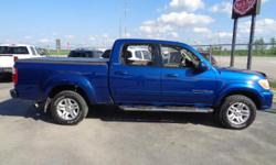 Make Toyota Model Tundra Year 2005 Colour Blue kms 224955 Trans Automatic WELL EQUIPPED WITH LEATHER, NAV AND SUNROOF 282-hp, 4.7-liter V-8, 5-speed automatic w/OD, Air Conditioning, Power Windows, Tilt steering wheel, Cassette, Headphones, Steering wheel