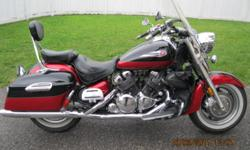 Excellent condition Yamaha Tour Deluxe. American bike with 21000 miles bought this Spring from dealer (Ben's Motorcycles in Peterborough). Will consider trading for late model car with low mileage. ? 1294cc, liquid-cooled ? 79-cubic-inch, V-Four ? Digital
