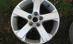 "Aluminum Alloy 17 inch x 6.5"" 5 Spoke 5 x 114mm Bolt Pattern 52.5mm Offset Have Pair Scuffed up edges Best Offer"