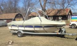 $15,000 2006 Bayliner 185, 3.0 mercy, ski tower monster, fish finder, convertible top, custom made cockpit/bow cover set, travel top, new tires on trailer, stereo w/ kicker & boss speaker & amp., without rips or tear in seats.