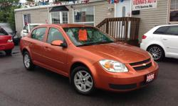 Make Chevrolet Model Cobalt Year 2006 Colour copper kms 127521 Trans Automatic well equipped with power windows, power locks, ac, cruise control, key less entry power mirrors, Automatic Transmission, good tires, 4 cylinder! Safety and etest included!