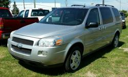 Make Chevrolet Model Uplander Year 2006 Colour Silver kms 202135 Trans Automatic 2006 Chevrolet Uplander 3.5l V6, Automatic, ABS, A/C, Cruise Control, Power windows/locks/mirrors. 202,135 km. Certified with E-Test included. Taxes are not included in