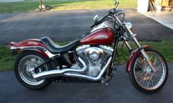 2006 Harley Davidson Softail FXST Only 5500 Miles Vance and Hines Exhaust Lepera Solo Seat, 2 up seat included as well. Drag bars Custom Pegs and Grips Bullet Lights and more Bike is in excellent condition. All original parts included. 11 900 O.B.O