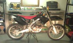 New Black Plastics, Never been race, always well maintained, New Chain And Sprockets, Newer Rear Tire. FMF Power Bomb and Pipe. Great Bike, always reliabe, And the last of the Big Power Carborated Bikes.  Please contact me if your interested or need more