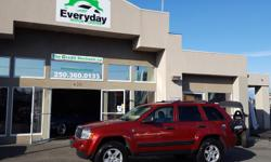 Make Jeep Model Grand Cherokee Year 2006 Colour Red kms 135622 Trans Automatic Check it out! Very clean 2006 Jeep Grand Cherokee Laredo. Upgraded tires, roof rack, hitch receiver, upgraded sound, upgraded deck, and a wicked exhaust note. Will not last