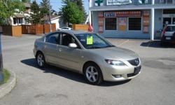Make Mazda Model 3 Year 2006 Colour Biege kms 122500 Trans Automatic 2006 Mazda 3 with 122500 km , Automatic and A/C . Will come Certified . Come Visit Us Today 916 Montreal Road Ottawa Ontario We are here to Serve you and help you get behind the wheels