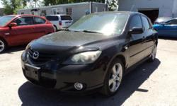 Make Mazda Colour black Trans Manual kms 197540 this 2006 mazda 3 gt , nice daily driver fully loaded , leather seats , 5speed , sunroof , 5 doors hatch , power mirror , power locks , key less entry , power windows ... SIMPLE PRICING ,ASKING PRICE +HST &