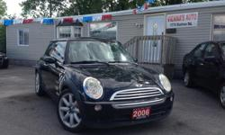 Make Mini Colour black Trans Automatic kms 187000 2006 Mini Cooper , the name tells it all ! these cars are different and has so much character , awesome sporty looking , and amazing road handling in both Summer and Winter , sporty interior features