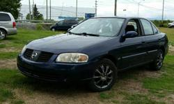 Make Nissan Model Sentra Colour Blue Trans Automatic kms 183400 2006 Nissan Sentra 1.8l 4 cylinder, Automatic, A/C, Power windows/locks/mirrors. 183,400 km. Certified with E-Test included. Taxes are not included in listing price. -- As two retired